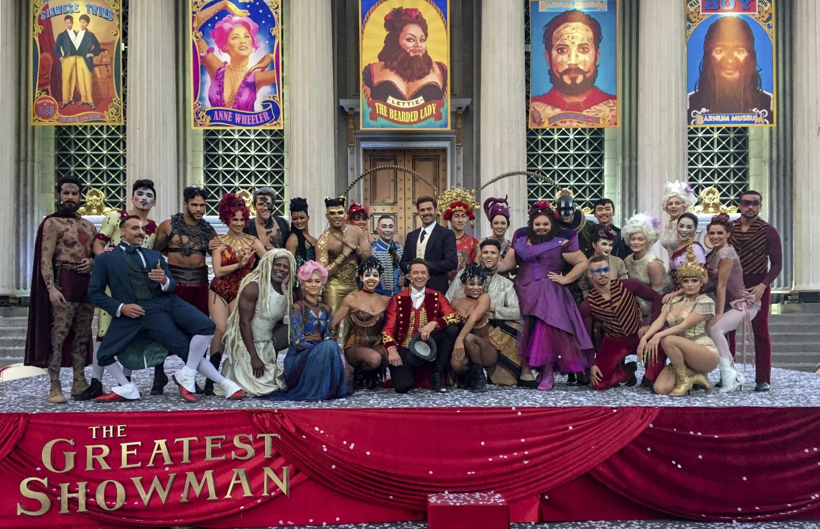 Burbank CA The Golden Globe Winning And Oscar Nominated Musical Film Greatest Showman Produced A Live 2 Minute Ad In December Of 2017