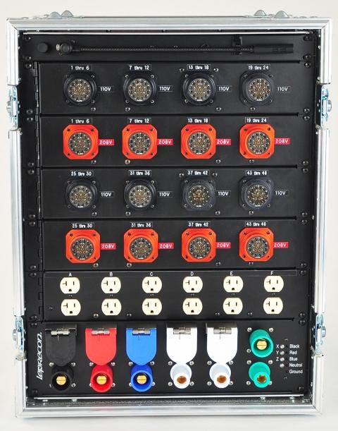 Leprecon 120 208v Distro 48 Way Lighting Rentals Video
