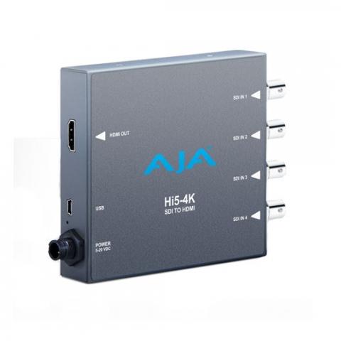 AJA Hi5-4K Quad SDI to HDMI 2.0 4K/UHD Converter