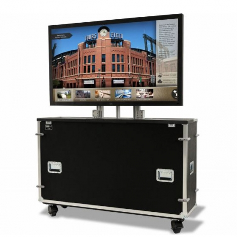 Sharp 90 in. Monitor with JELCO EL-80 EZ-LIFT Case