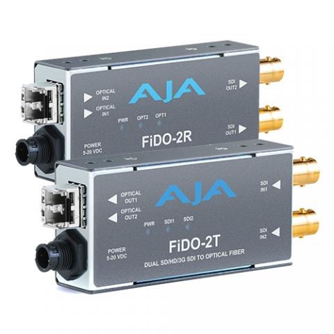 AJA FiDO-2T-MM & FiDO-2R-MM 2-Channel SDI Fiber Extension