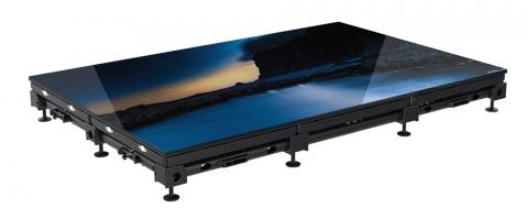 4.76mm Roe Black Marble LED Floor